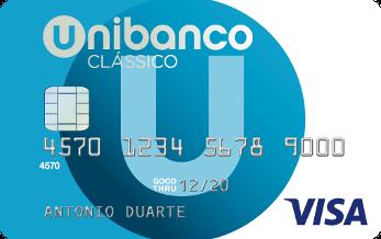 Cartão de crédito clássico Unibanco